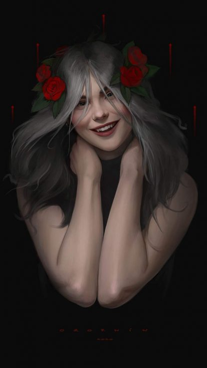 Vampire Girl iPhone Wallpaper