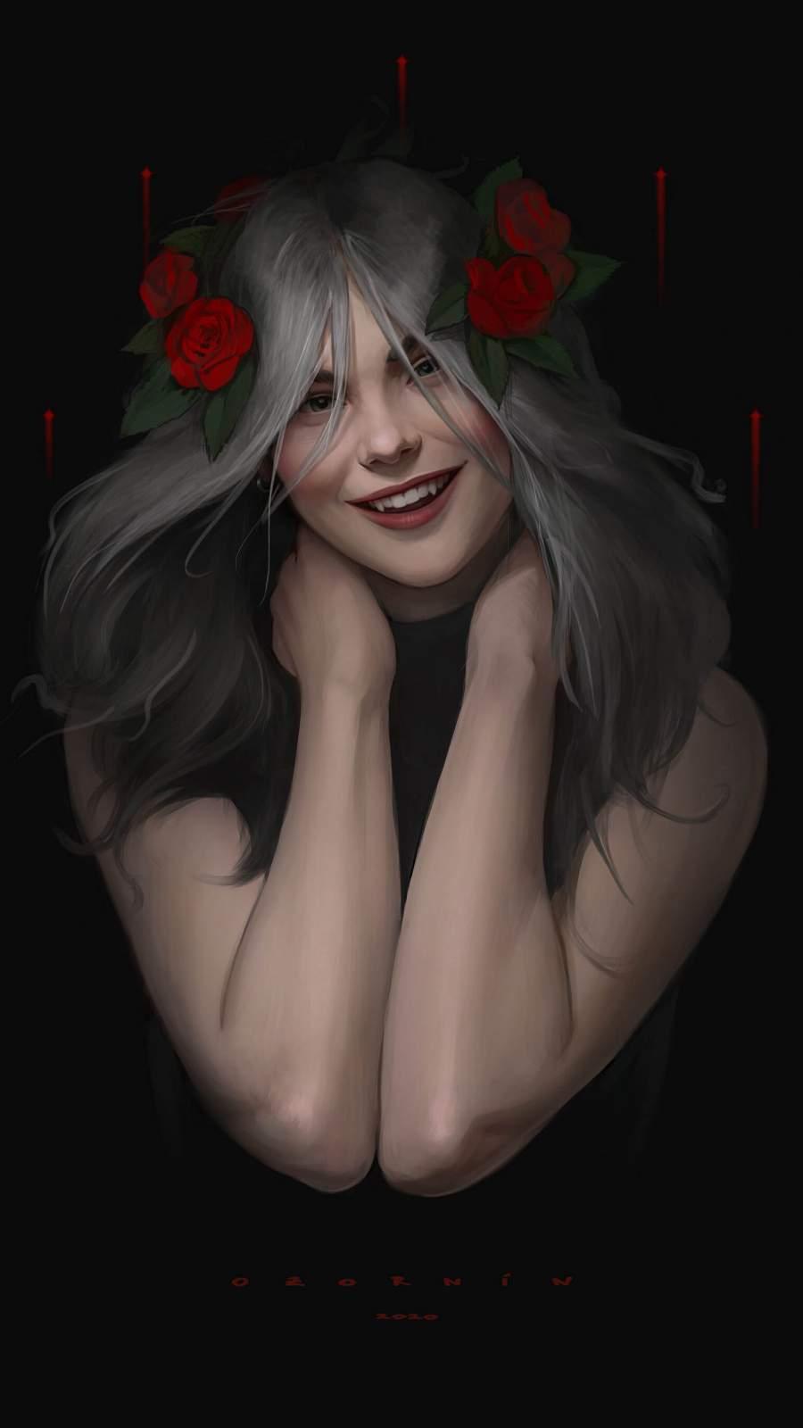 Vampire Girl iPhone Wallpaper