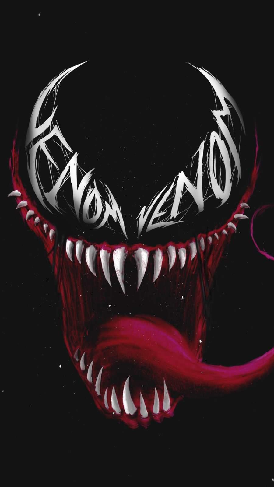 Venom Eye Logo Art iPhone Wallpaper