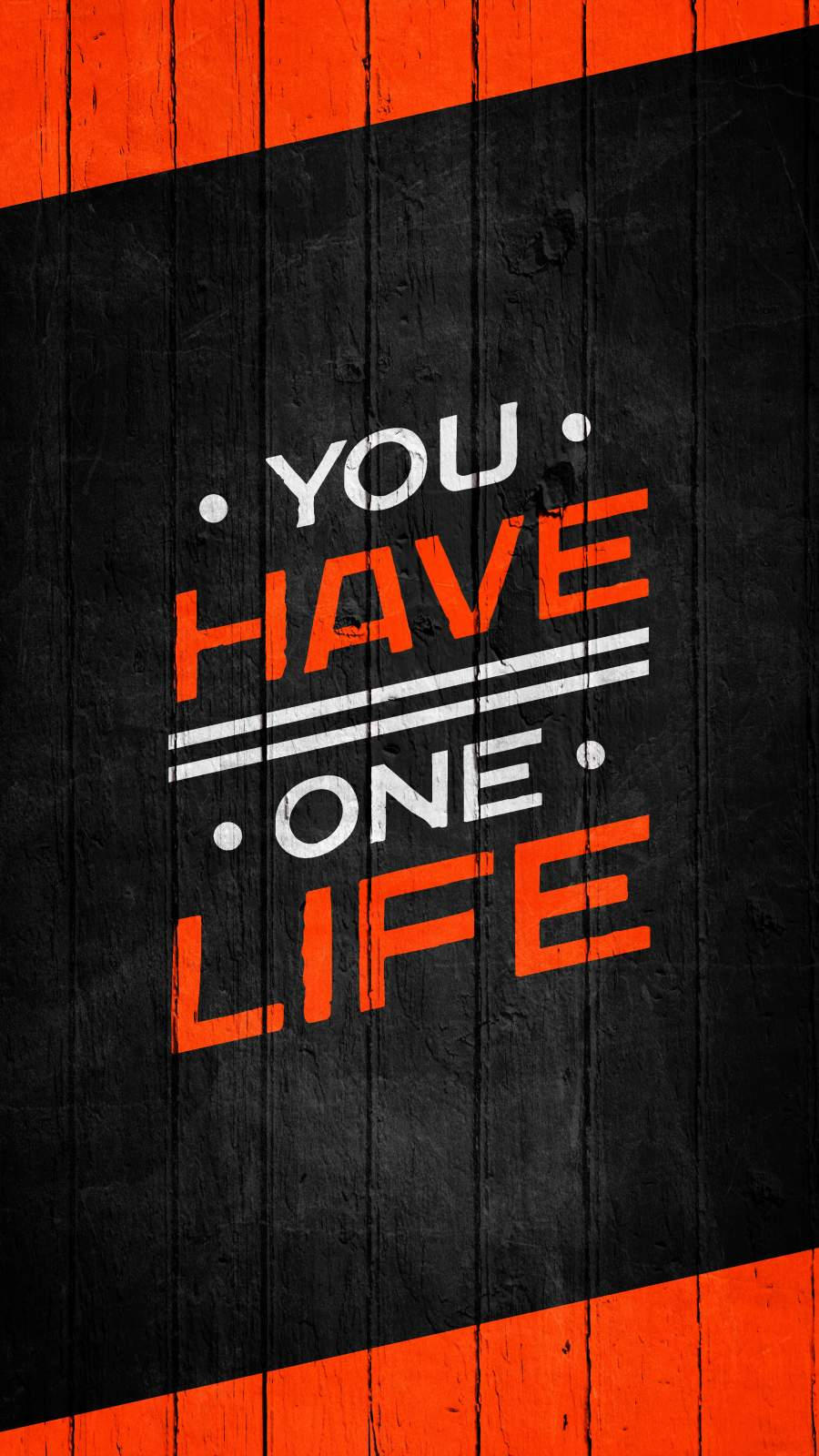 You Have One Life