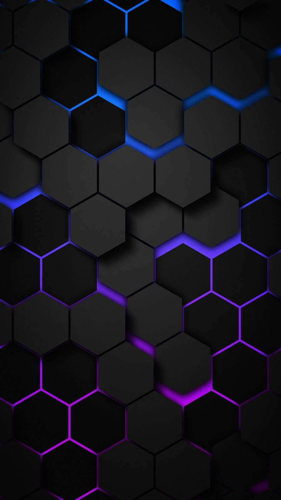 3D Hexagon iPhone Wallpaper