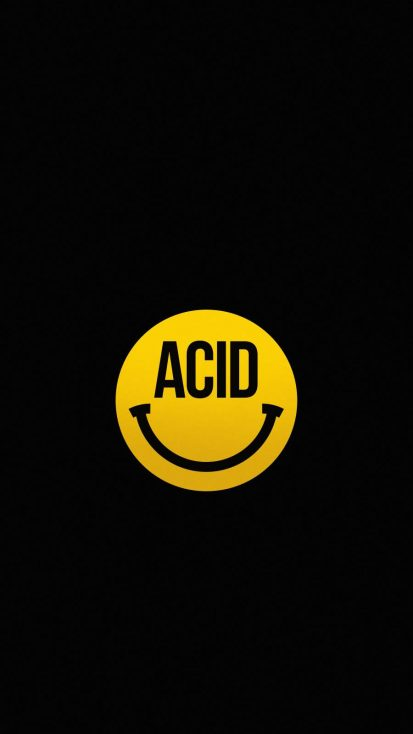 Acid Smile iPhone Wallpaper