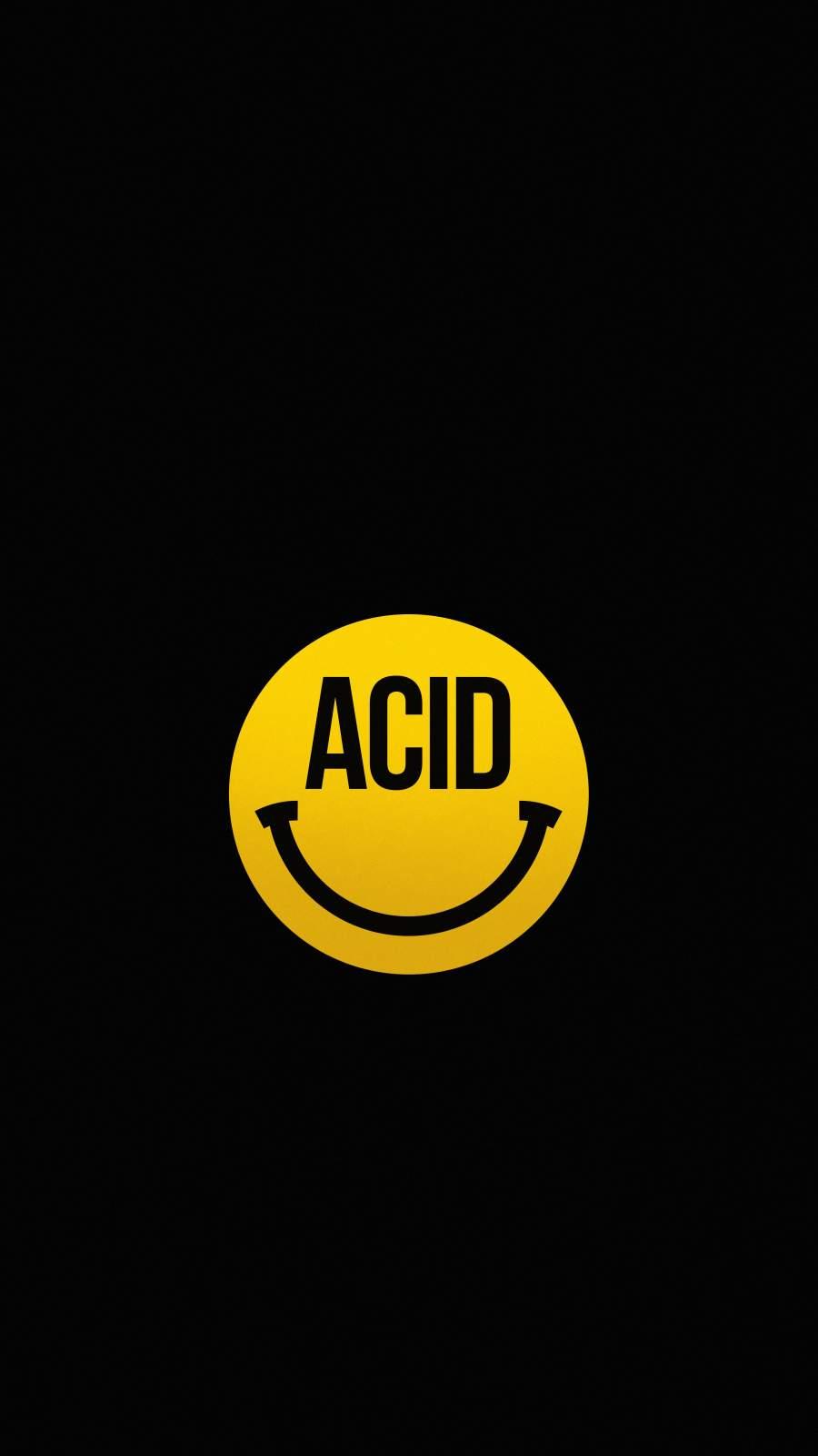 Acid Smile iPhone Wallpaper