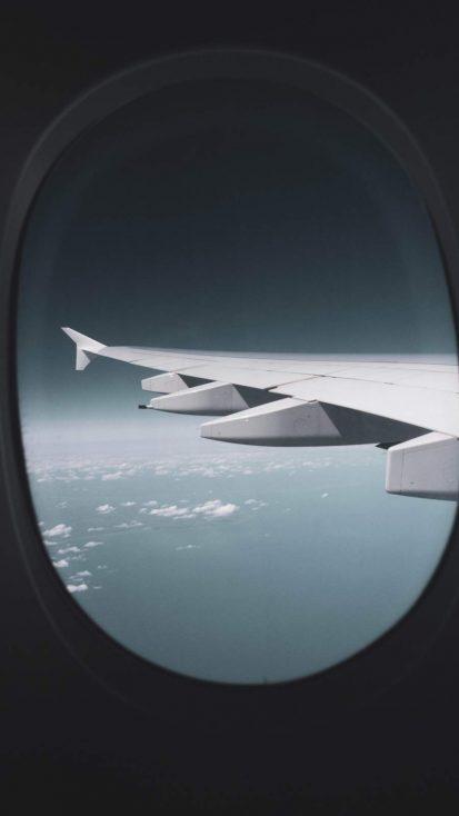 Aircraft Window iPhone Wallpaper