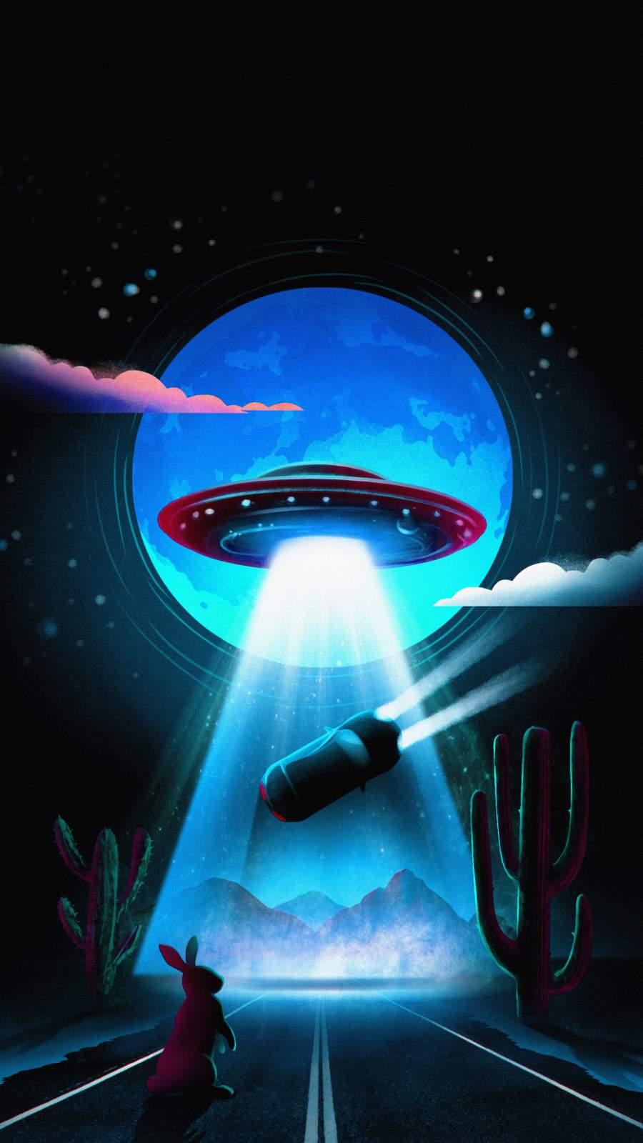 Alien Art iPhone Wallpaper