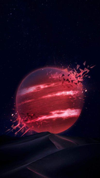 Amoled Desert Planet iPhone Wallpaper