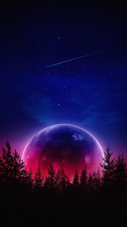 Amoled Moon iPhone Wallpaper