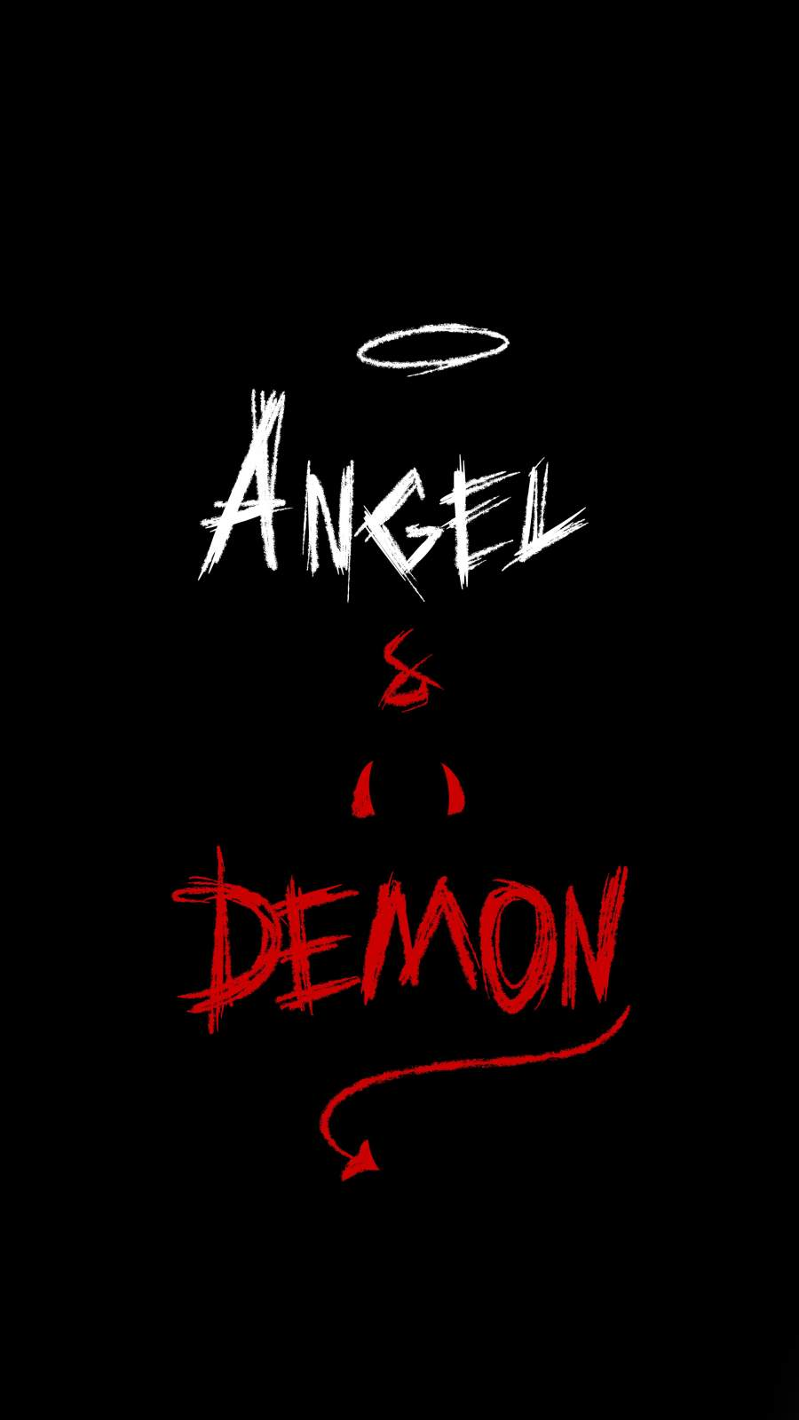 Angel and Demon iPhone Wallpaper