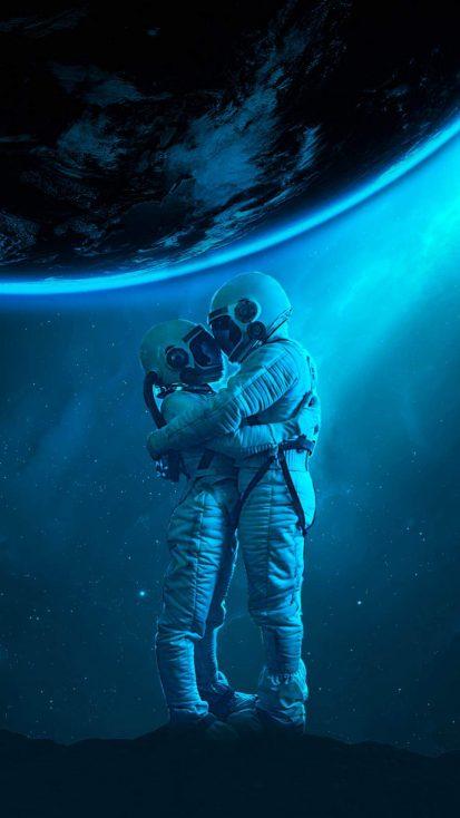 Astro Lovers iPhone Wallpaper