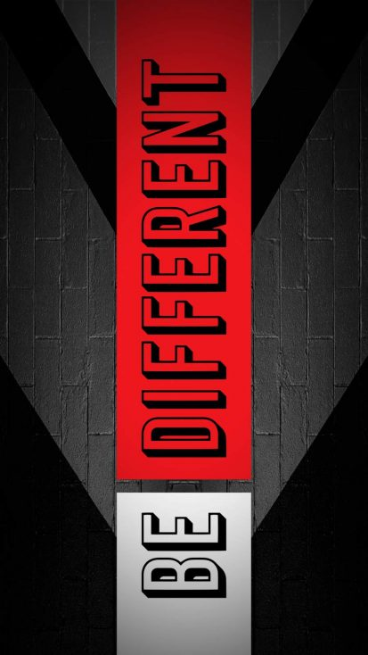 Be Different iPhone Wallpaper