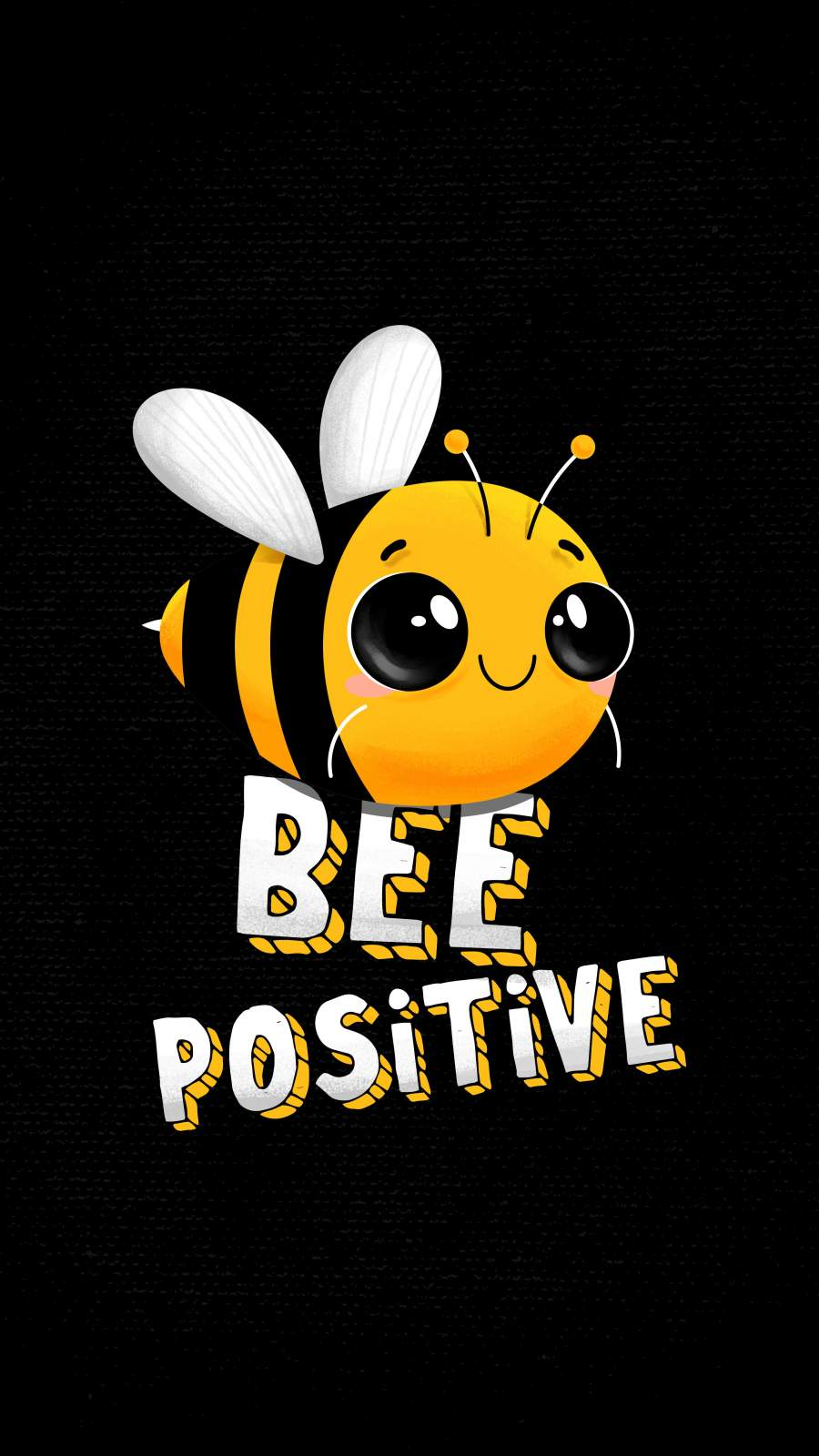Be Positive iPhone Wallpaper