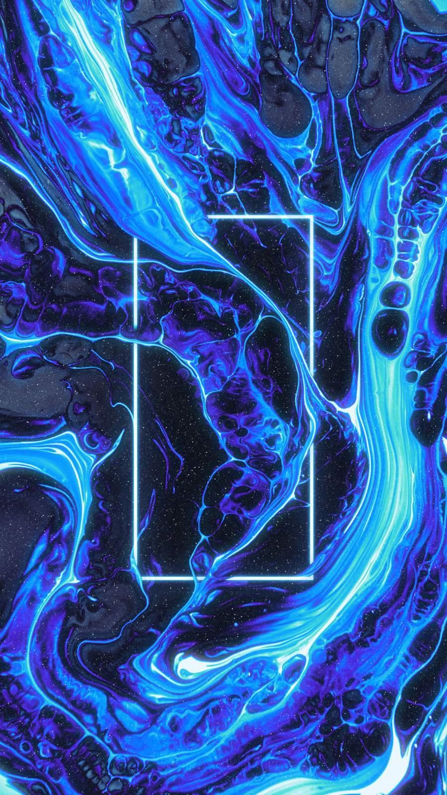 Blue Lava iPhone Wallpaper