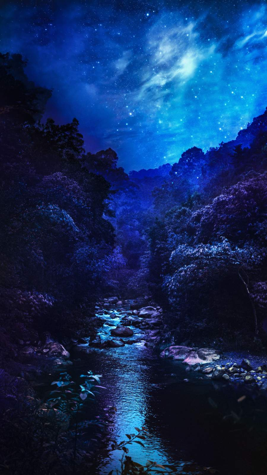 Blue Nature Scenery iPhone Wallpaper