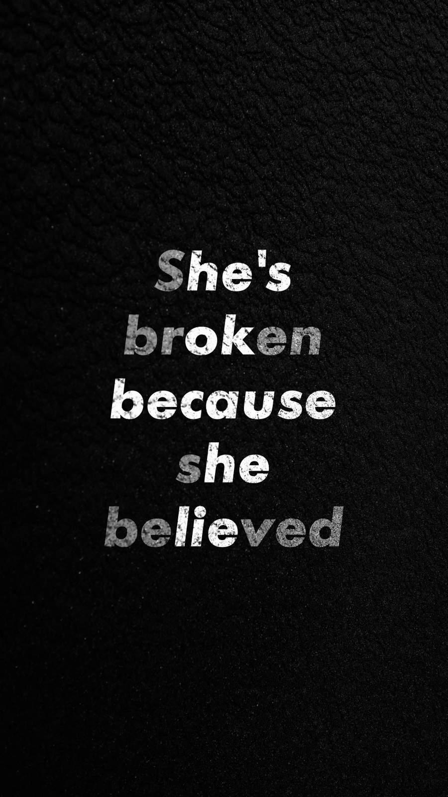 Breakup Quote iPhone Wallpaper
