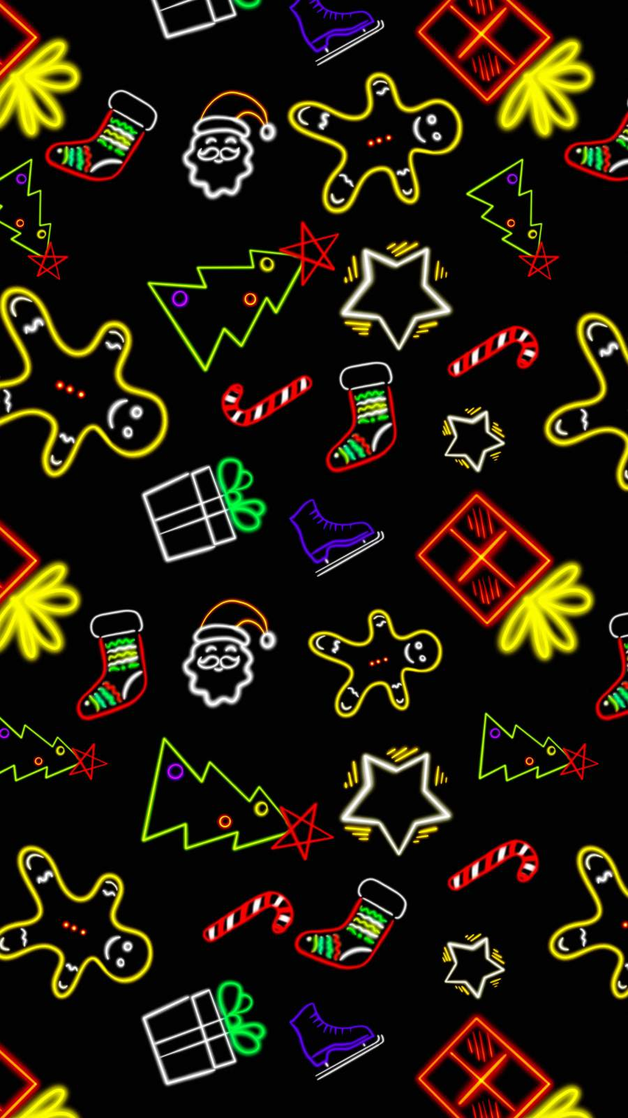 Christmas Neon Pattern