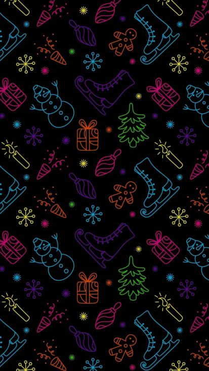Christmas Patterns iPhone Wallpaper
