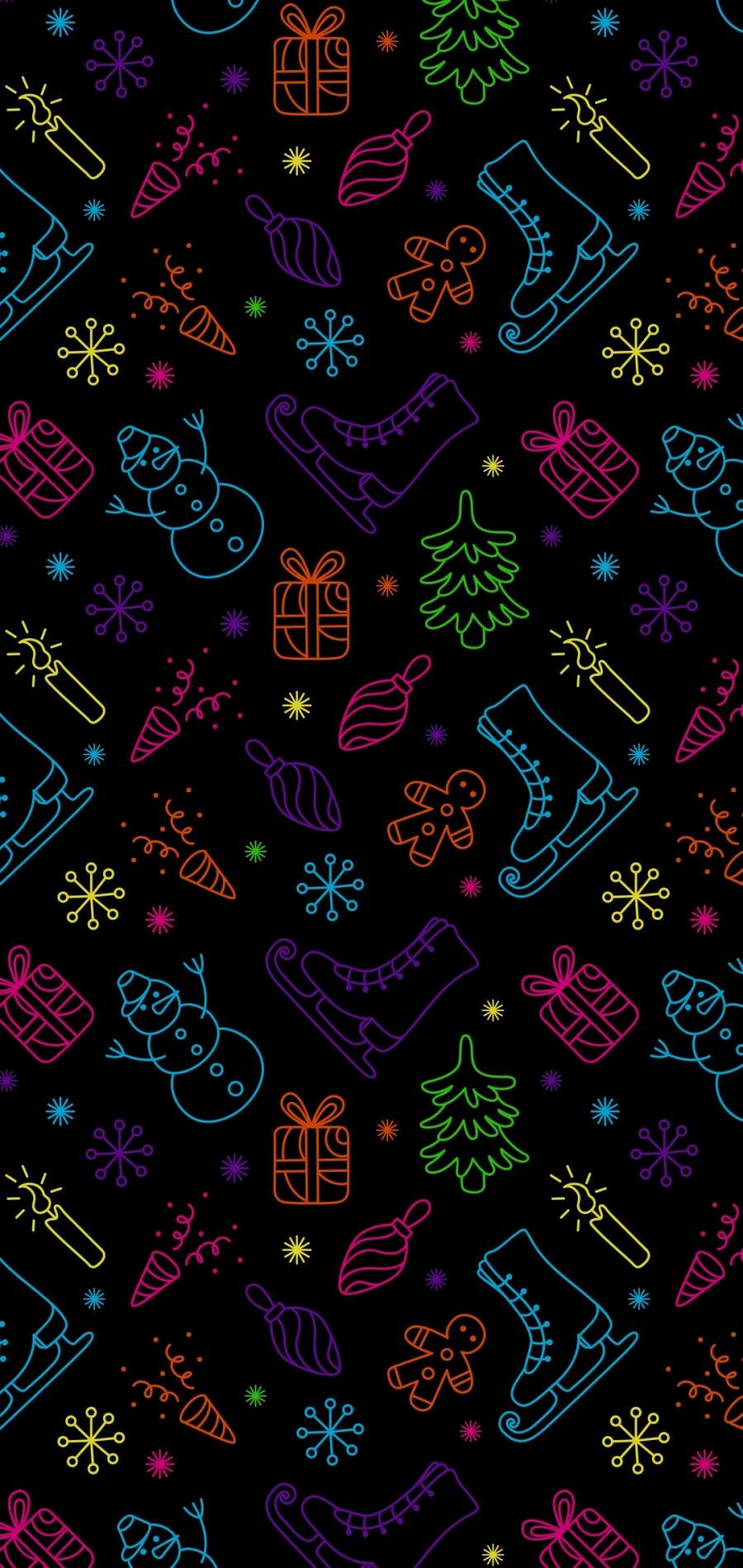 Christmas Patterns iPhone Wallpaper