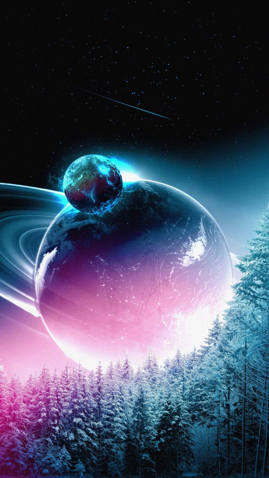 Colliding Planets Amoled