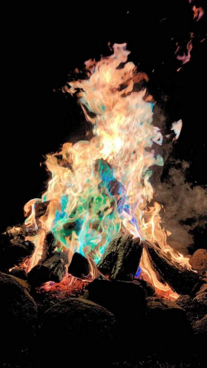 Colorful Fire iPhone Wallpaper