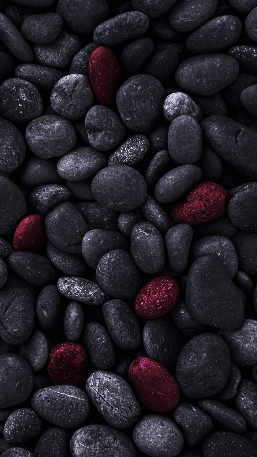 Dark Pebbles iPhone Wallpaper