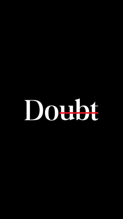 Doubt iPhone Wallpaper