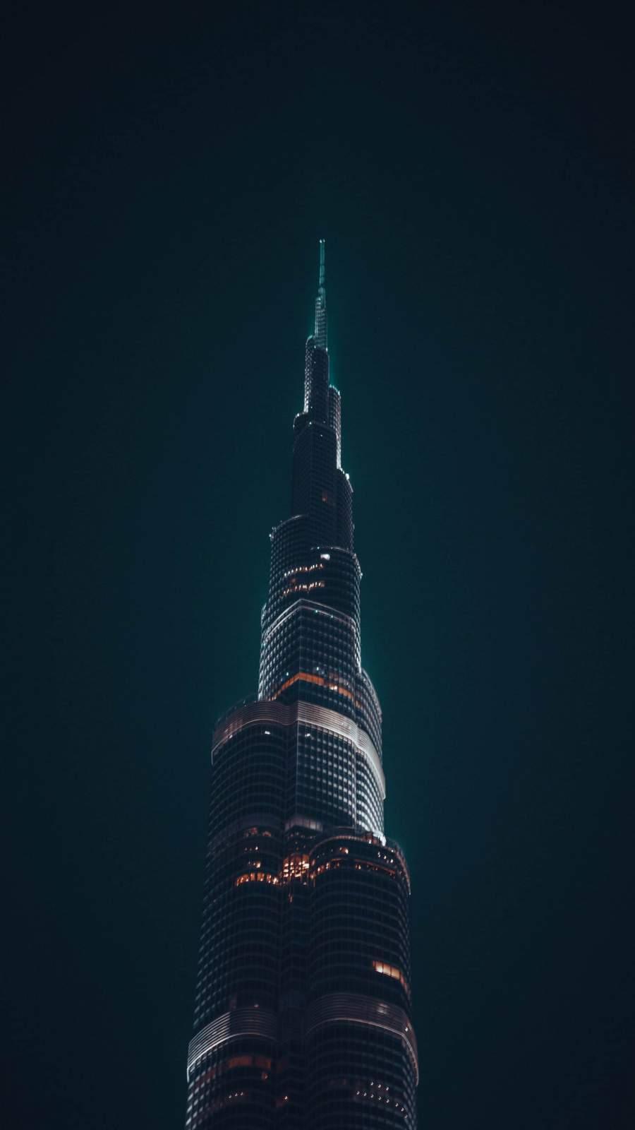 Dubai Burj Khalifa Night