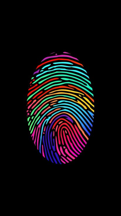 Fingerprint Amoled iPhone Wallpaper