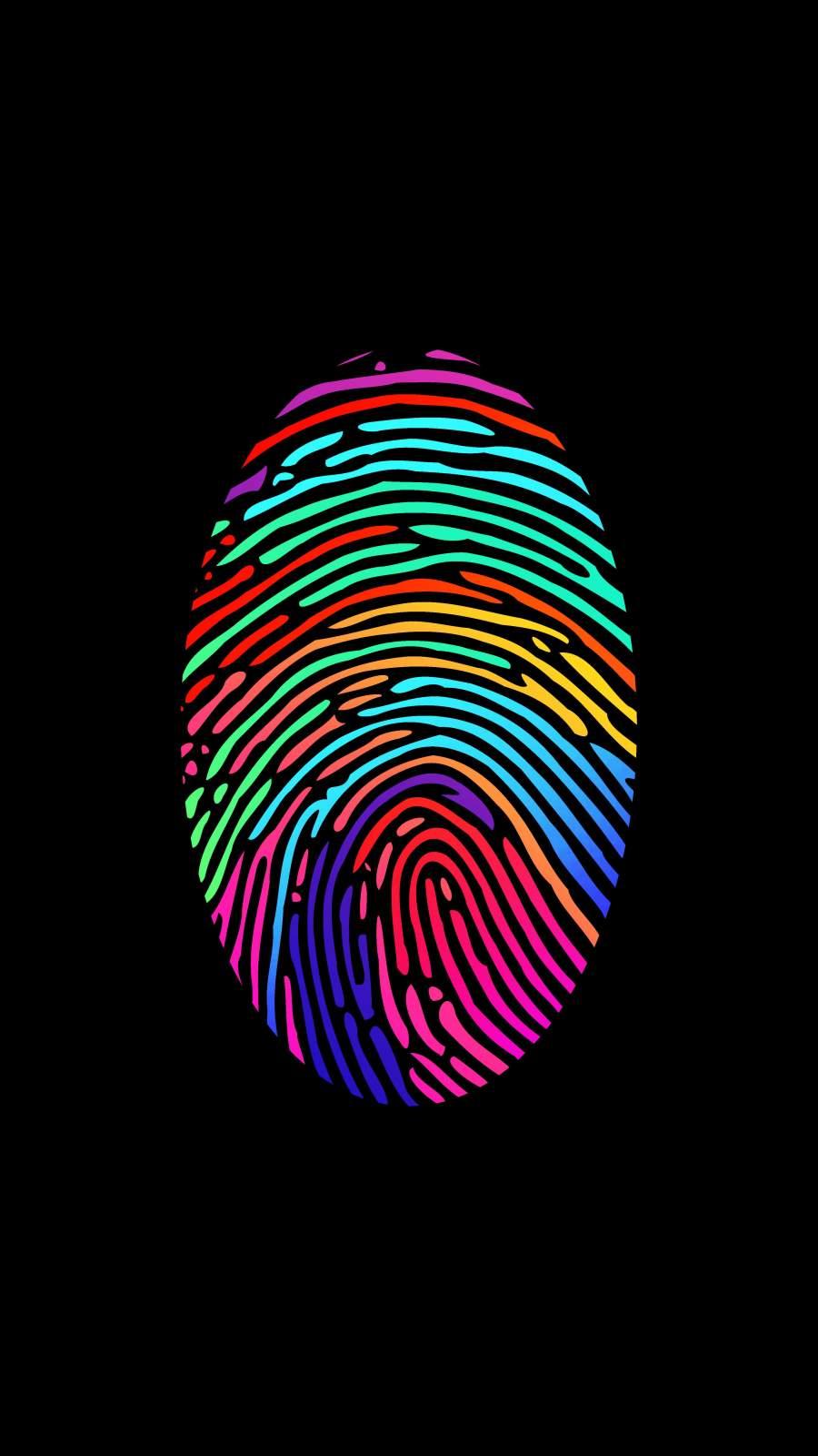 Fingerprint Amoled iPhone Wallpaper