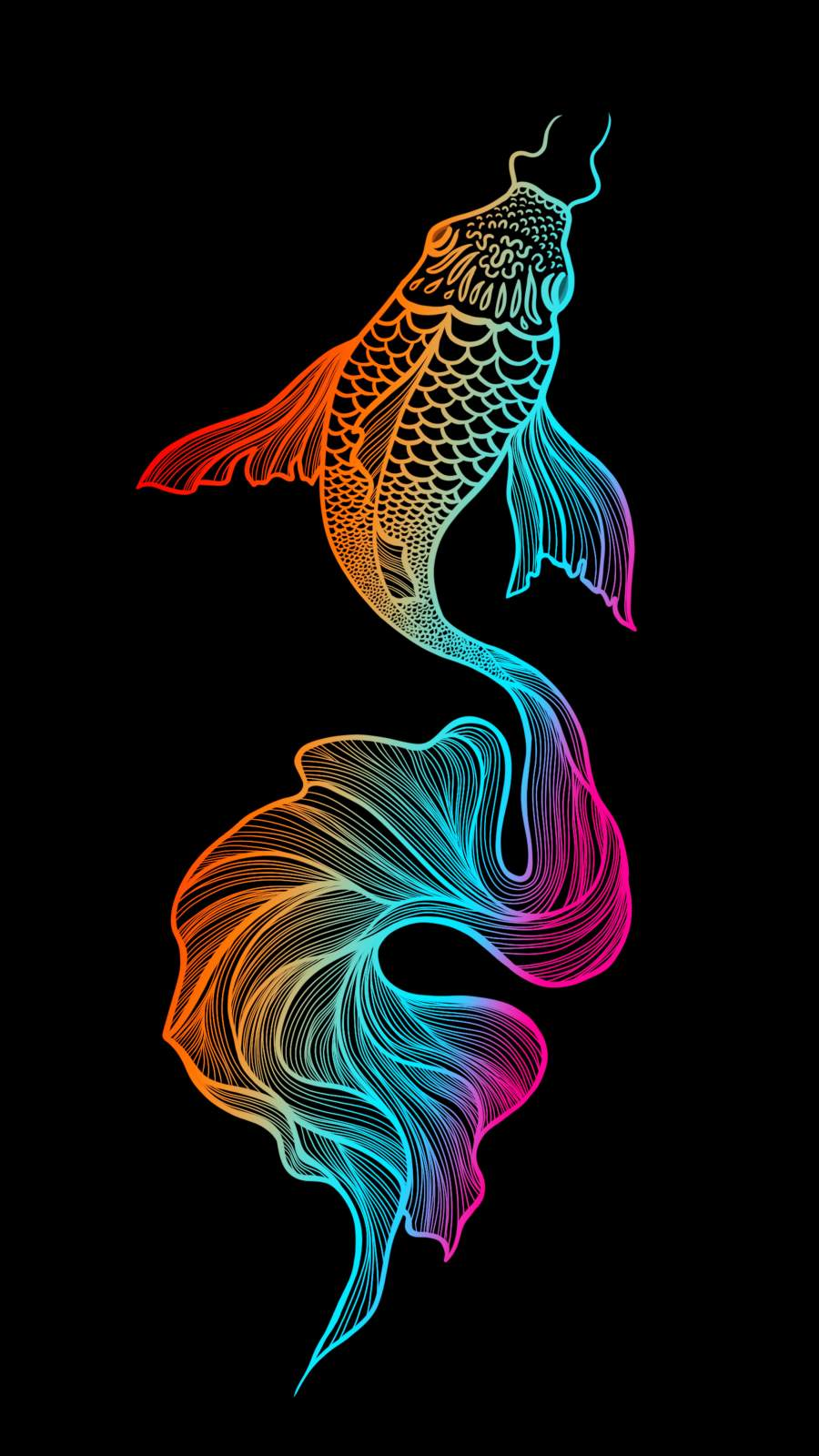 Fish Art iPhone Wallpaper