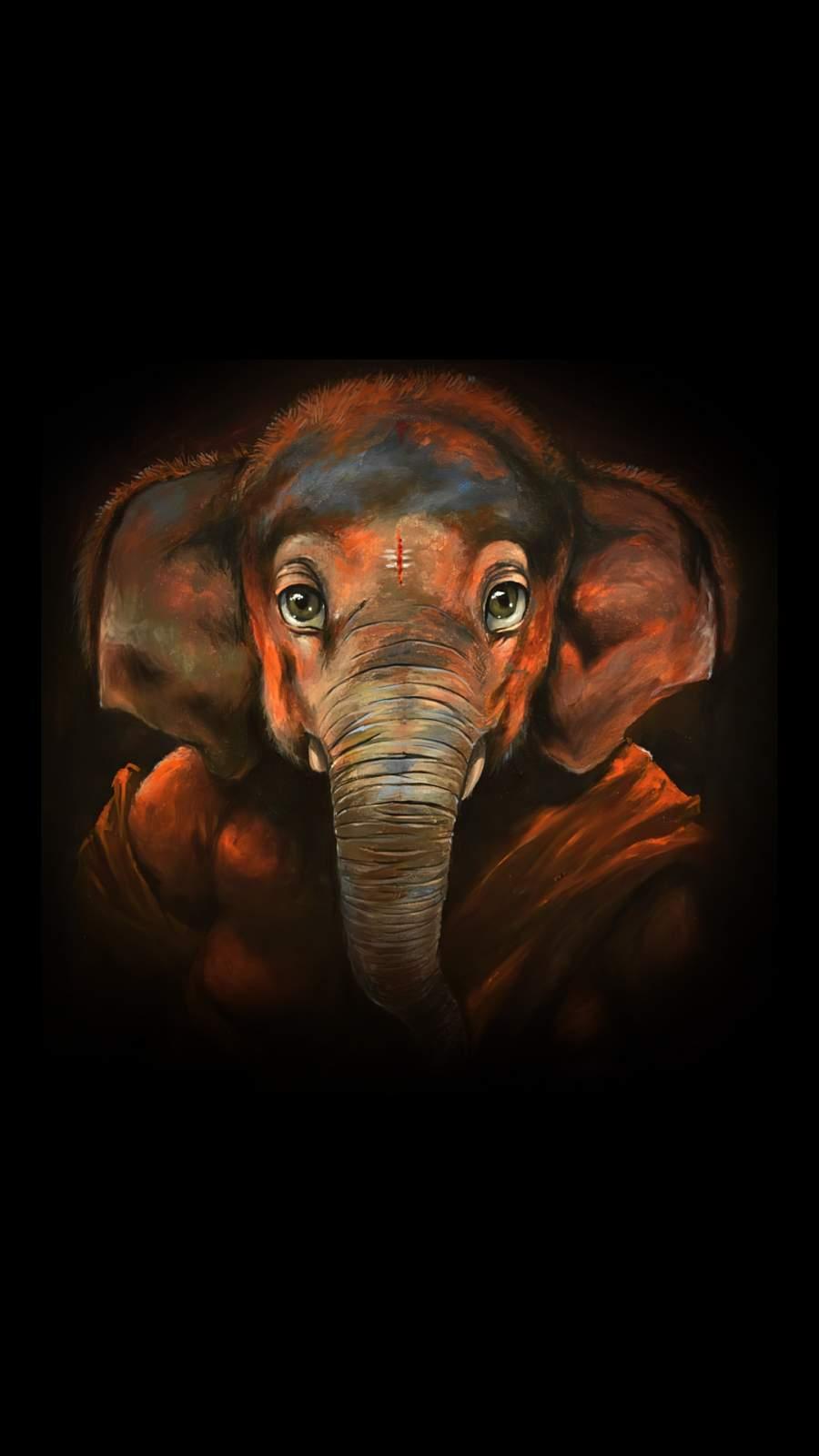 Ganesha Painting iPhone Wallpaper