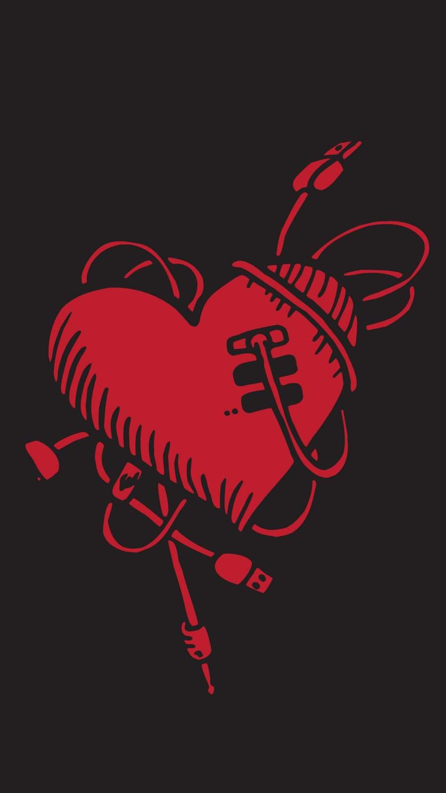 Heart Pod iPhone Wallpaper