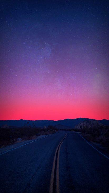 Horizon Mountains Sunrise Road