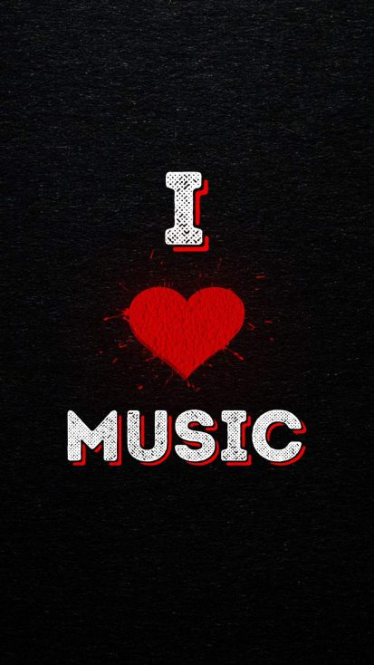 I Love Music iPhone Wallpaper