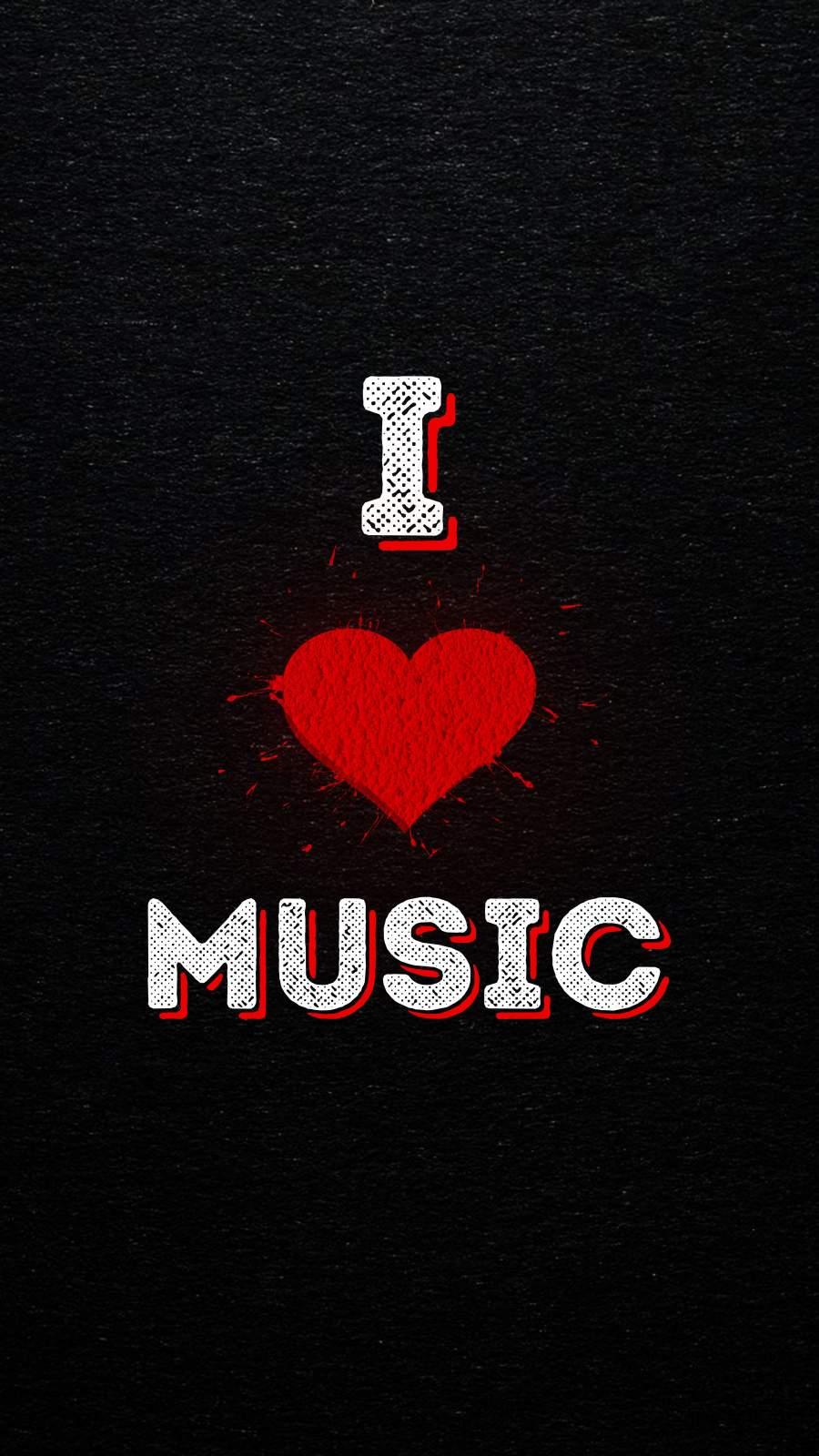 I Love Music iPhone Wallpaper