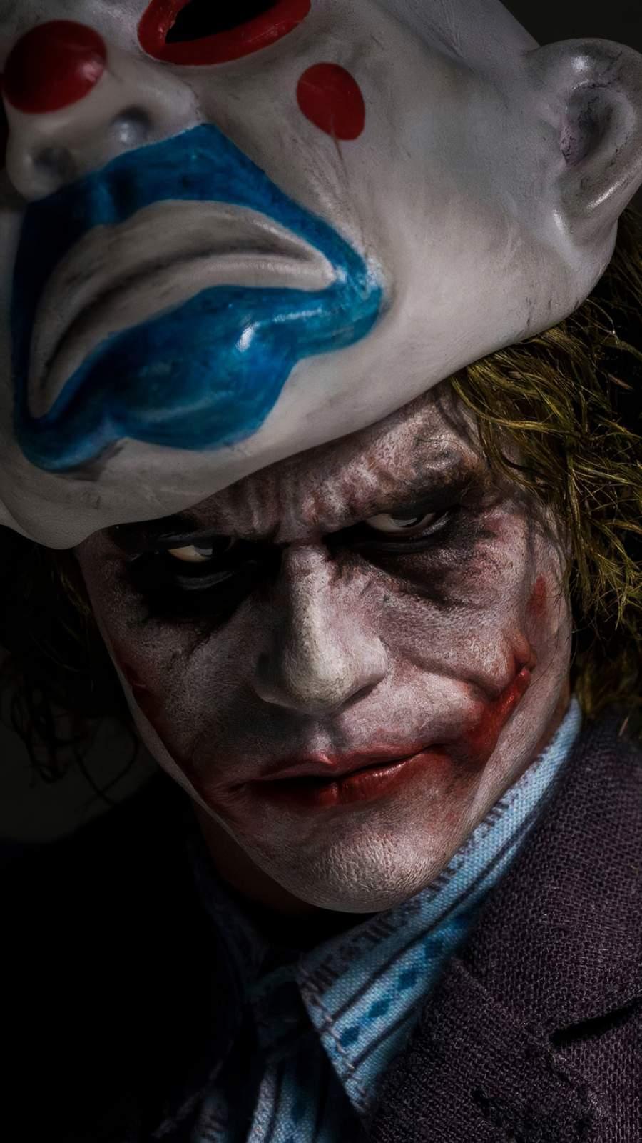 Joker Mask 4K iPhone Wallpaper