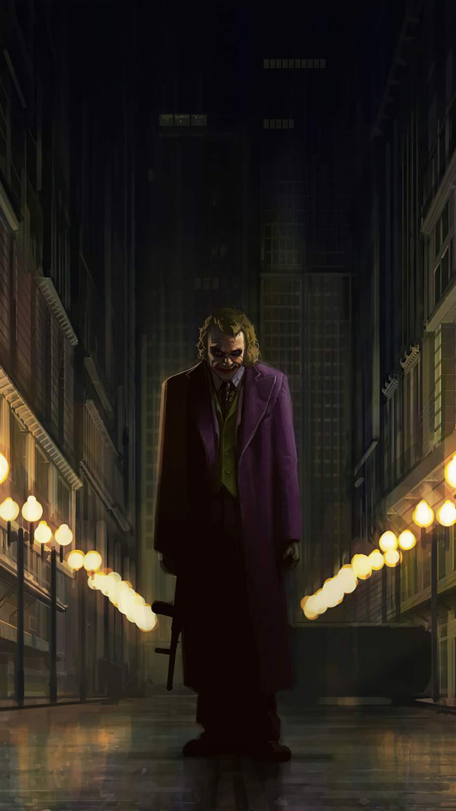 Joker with Gun iPhone Wallpaper