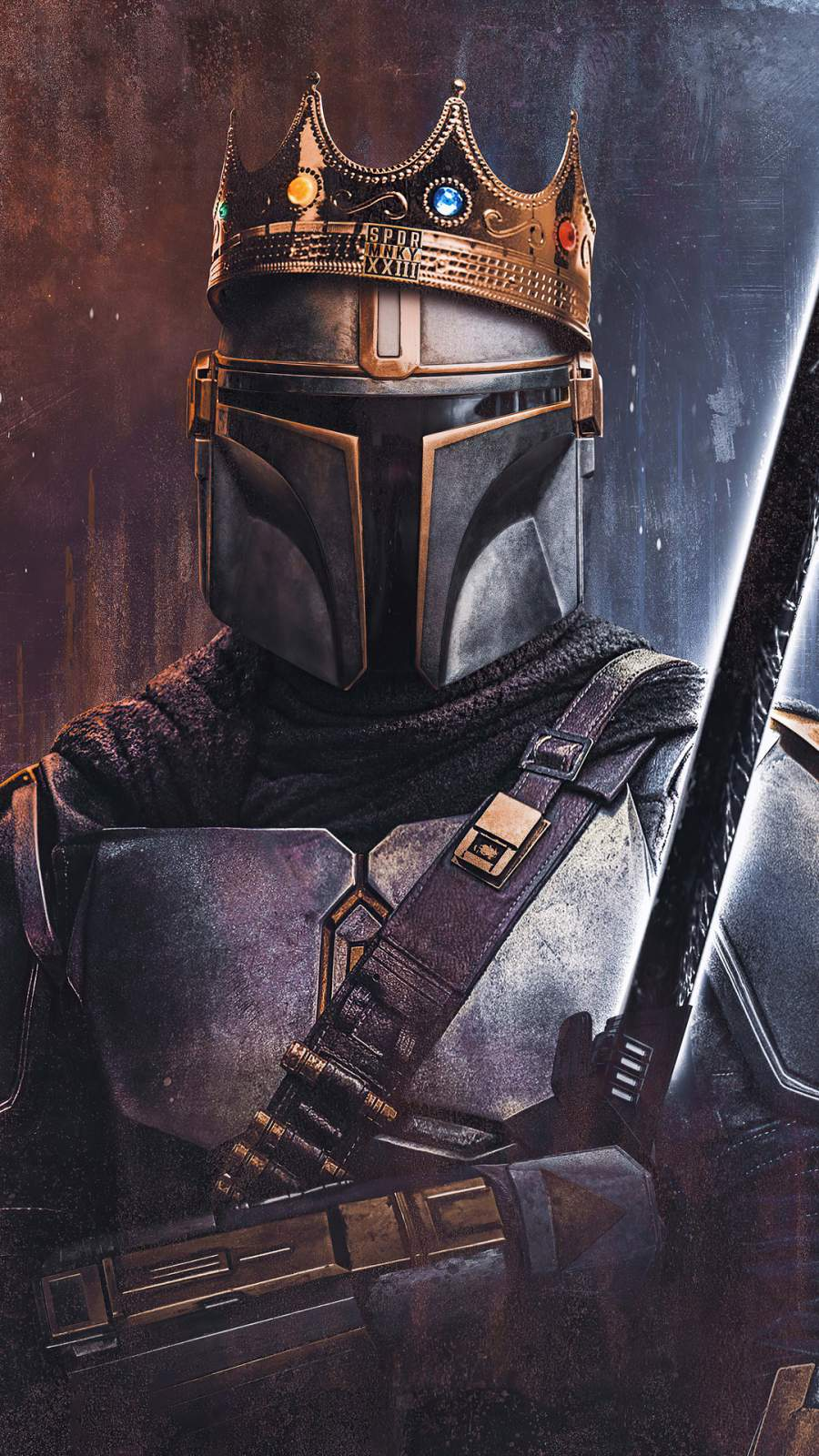 King of Mandalorian iPhone Wallpaper