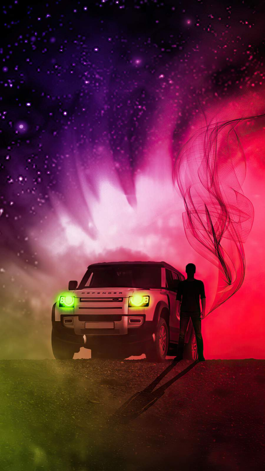 Land Rover Defender Art 4K