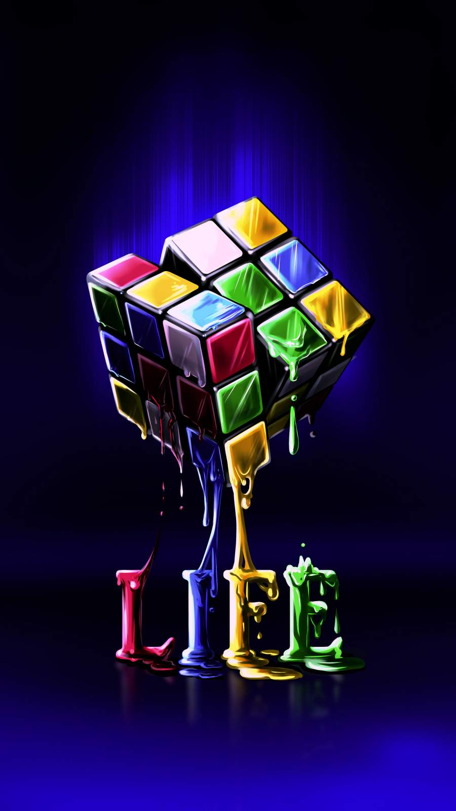Life is Puzzle iPhone Wallpaper