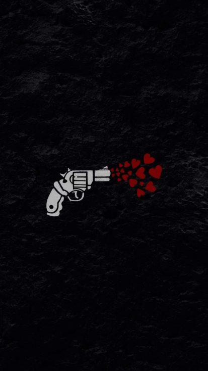 Love Gun iPhone Wallpaper