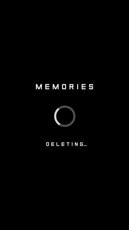 Memories Deleting iPhone Wallpaper