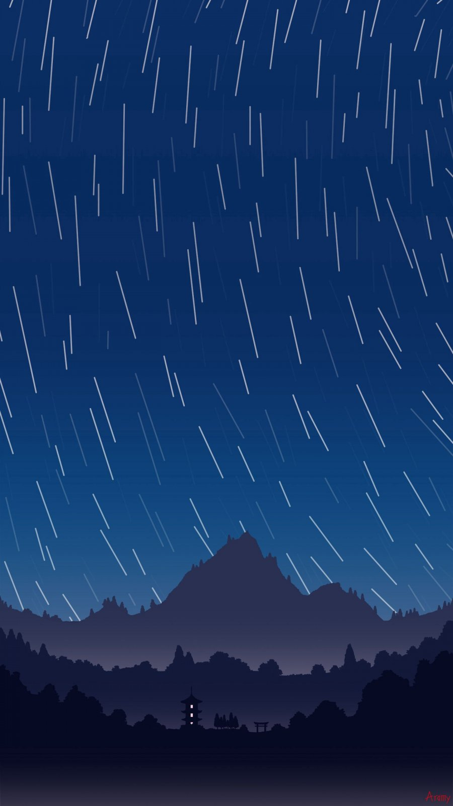 Minimal Night Long Exposure Stars