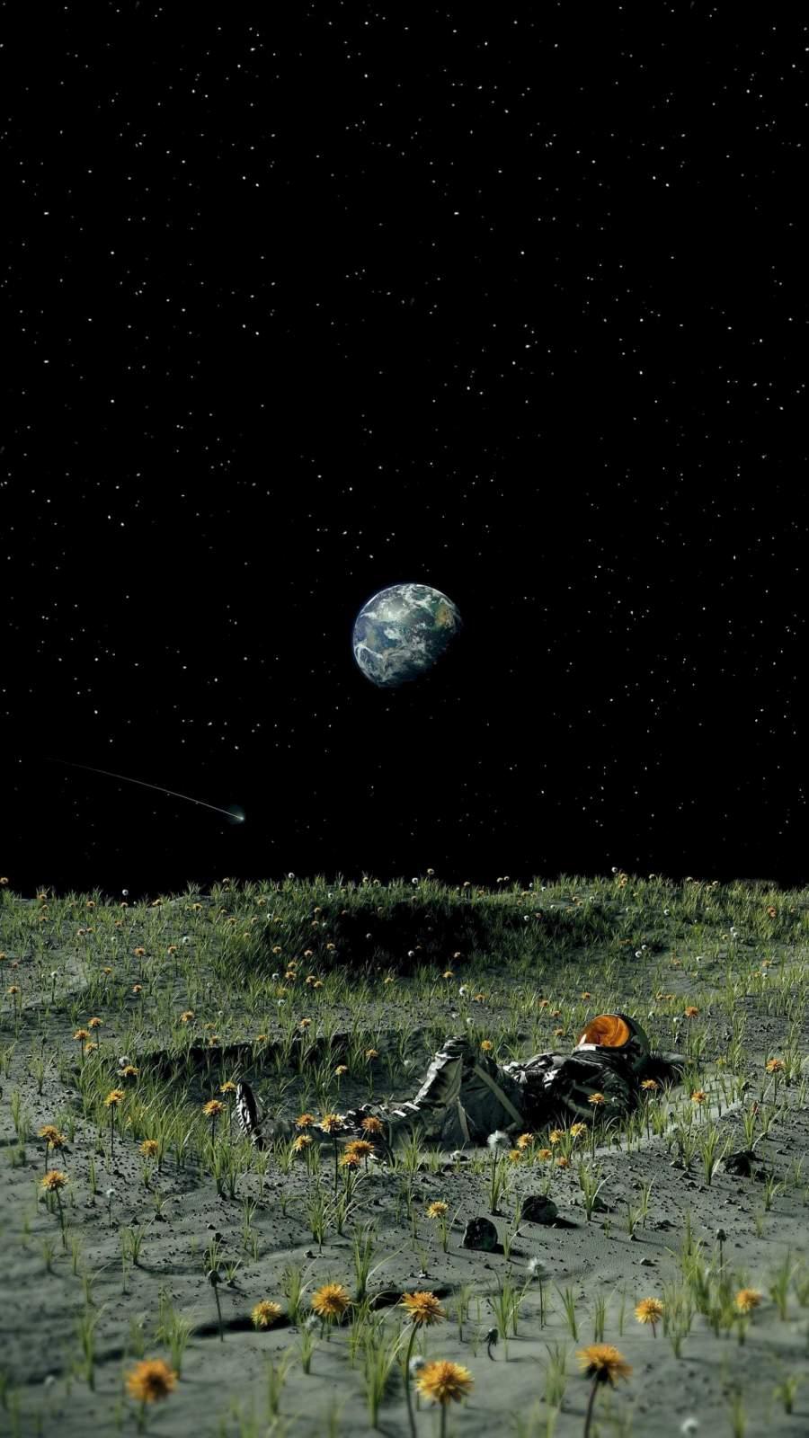 Moon Garden Astronaut