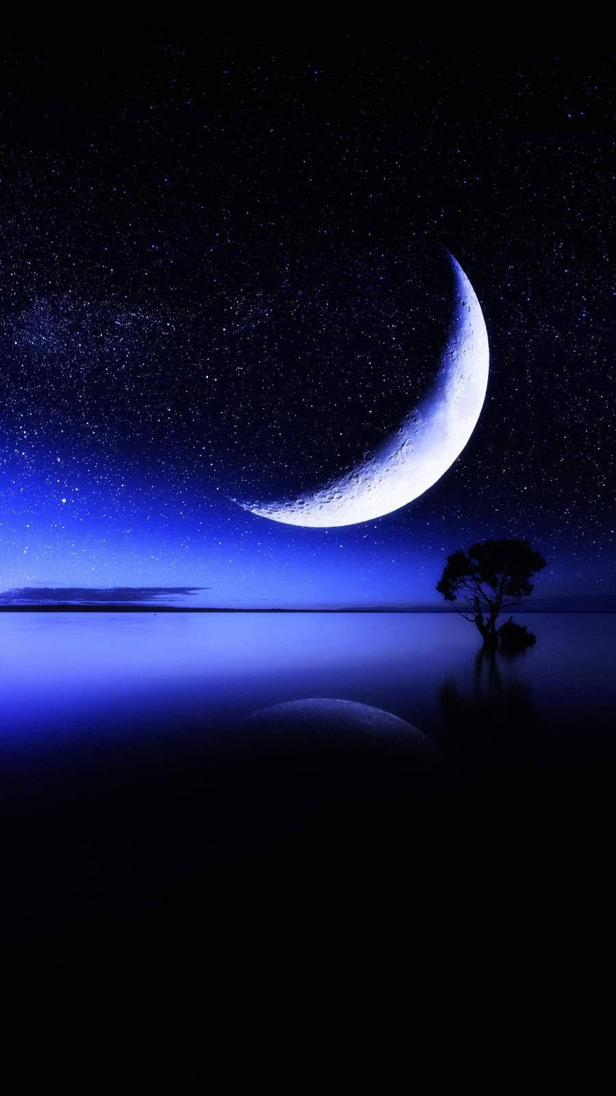 Moon Ocean Horizon