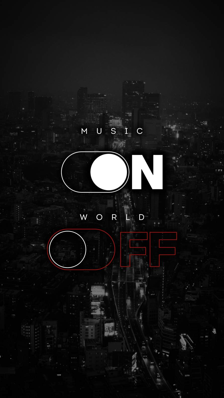 Music ON World OFF iPhone Wallpaper