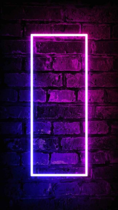 Neon Bricks iPhone Wallpaper