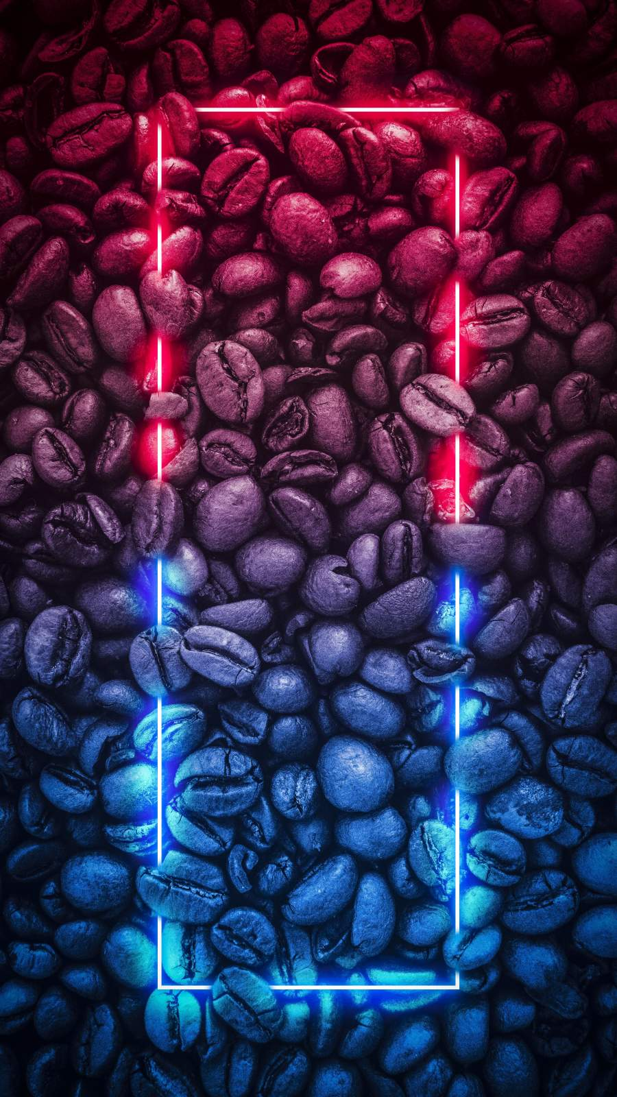 Neon Coffee Beans