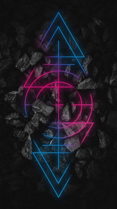 Neon Dark Stones