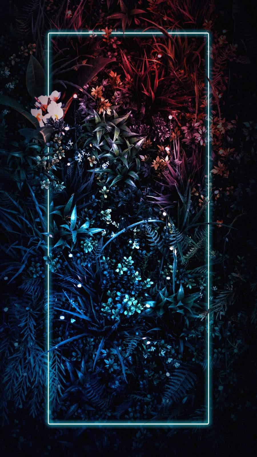 Neon Light Plants Nature