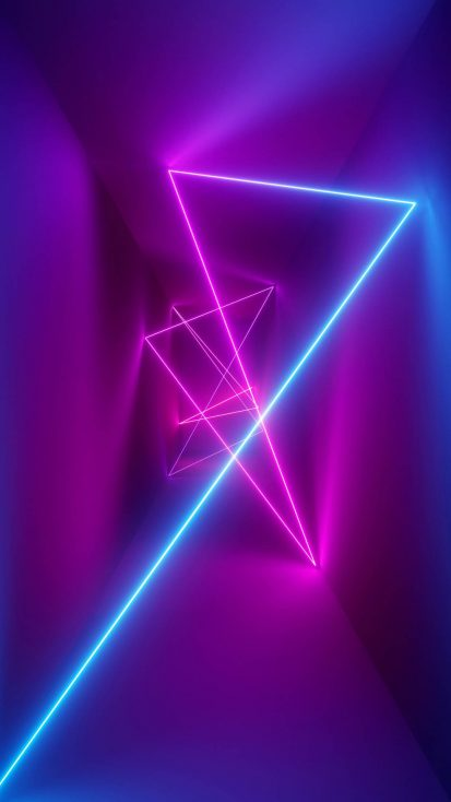 Neon Rays iPhone Wallpaper